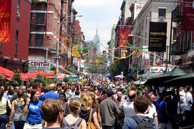 Little Italy before the 2006 World Cup final - New York, NY ... July 9, 2006 ... Photo by Rob Page III