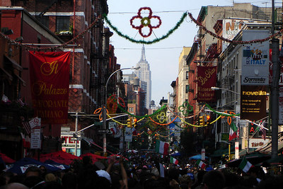 Little Italy celebrating after Italy's victory over France in the 2006 World Cup final - New York, NY ... July 9, 2006 ... Photo by Rob Page III