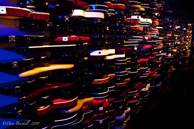 The Guitar wall at The Hard Rock Cafe in New York City