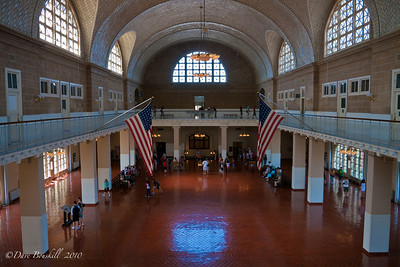 Ellis Island, the gateway to America.