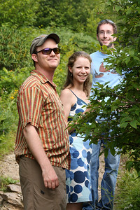 Jay, Emily, and Mike enjoying our little hike - Asheville, NC ... August 9, 2008 ... Photo by Rob Page III
