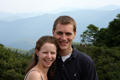 Emily and Rob in the mountains - Asheville, NC ... August 9, 2008 ... Photo by Mike Coughlin