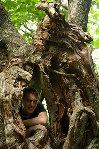 Rob hangs out in the woods - Asheville, NC ... August 8, 2008 ... Photo by Emily Page