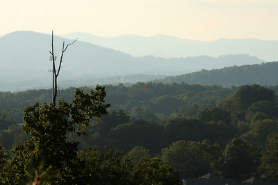 The Appalachian mountains from Givens Estates - Asheville, NC ... August 8, 2008 ... Photo by Rob Page III