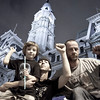 Homeless in Philly: <br /> Scott, his 4 year old son Jonah & Scott's brother, Joe. <br /> Occupy Protest, City Hall, Philadelphia