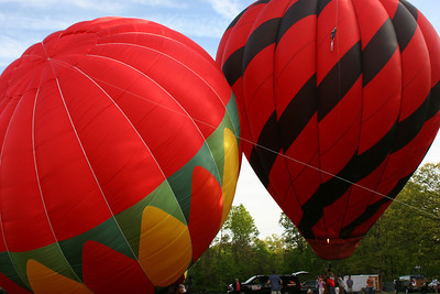 The balloons are about to head into the sky - Chagrin Falls, OH ... May 25, 2008 ... Photo by Rob Page Jr.