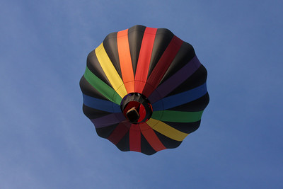 A hot air balloon floats above - Chagrin Falls, OH ... May 25, 2008 ... Photo by Rob Page III