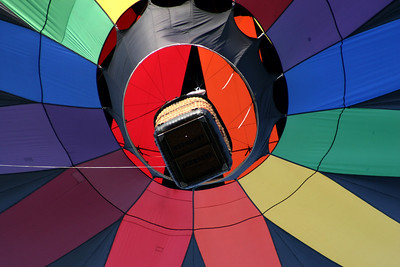 One of the colorful balloons from below - Chagrin Falls, OH ... May 25, 2008 ... Photo by Rob Page Jr.