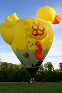 The rubber ducky hot air ballon - Chagrin Falls, OH ... May 25, 2008 ... Photo by Rob Page Jr.
