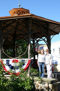 Emily and Maggie at the grandstand - Chagrin Falls, OH ... May 26, 2008 ... Photo by Joyce Page