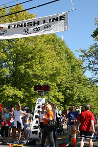 Bob crosses the finish line - Chagrin Falls, OH ... May 26, 2008 ... Photo by Rob Page III