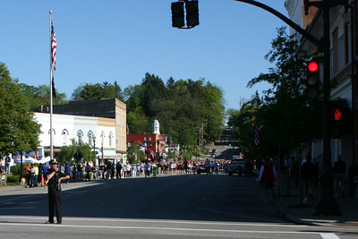 Here come the runners - Chagrin Falls, OH ... May 26, 2008 ... Photo by Joyce Page