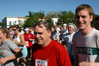 Rob and Bob running in the Blossom Time Run - Chagrin Falls, OH ... May 26, 2008 ... Photo by Joyce Page
