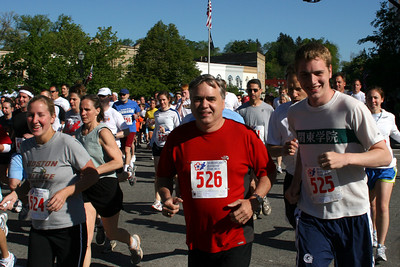 The family running in the Blossom Time Run - Chagrin Falls, OH ... May 26, 2008 ... Photo by Joyce Page
