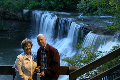 Bob and Maggie Conger down by the falls - Chagrin Falls, OH ... May 26, 2008 ... Photo by Rob Page Jr.