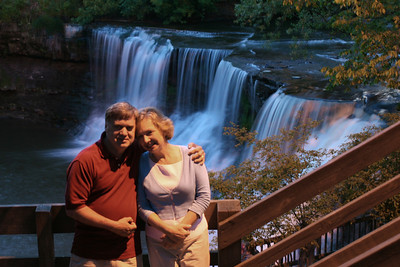 Mom and Dad enjoying the falls - Chagrin Falls, OH ... May 26, 2008 ... Photo by Rob Page III