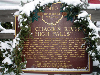 """The Chagrin Rivers """"High Falls"""" - Chagrin Falls, OH ... November 24, 2005 ... Photo by Rob Page III"""