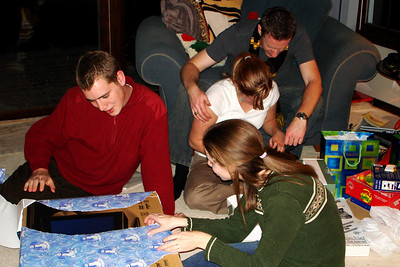 Opening gifts - Chagrin Falls, OH ... December 22, 2007
