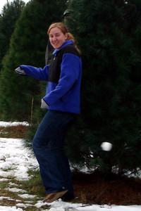 Heather dodges the snowball - Novelty, OH ... December 22, 2007 ... Photo by Rob Page III