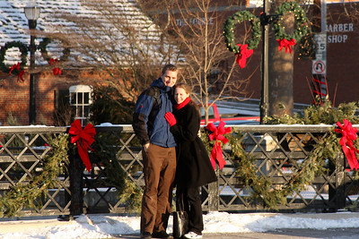Rob and Emily enjoying the wintery day - Chagrin Falls, OH ... December 21, 2008 ... Photo by Bob Page Jr.