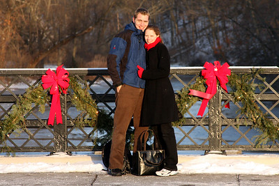 Rob and Emily enjoying the cold, wintery day - Chagrin Falls, OH ... December 21, 2008 ... Photo by Bob Page Jr.