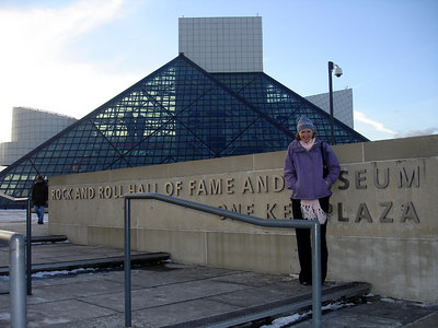 Emily and the Rock and Roll Hall of Fame - Cleveland, OH ... November 25, 2005 ... Photo by Rob Page III