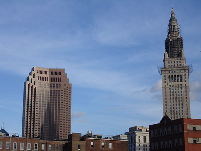The Terminal Tower casts a shadow on the BP Building - Cleveland, OH ... November 25, 2005 ... Photo by Rob Page III