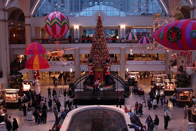 Tower City decked out for Christmas - Cleveland, OH ... November 25, 2005 ... Photo by Rob Page III