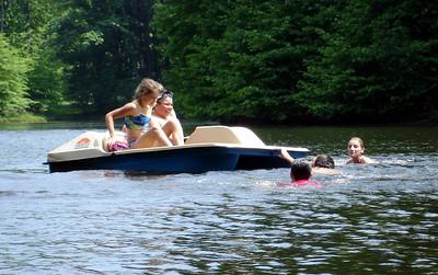 The kids having fun on the lake ... June 9, 2005