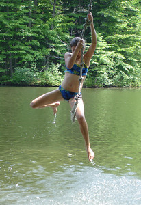 Fun on the ropeswing ... June 9, 2005