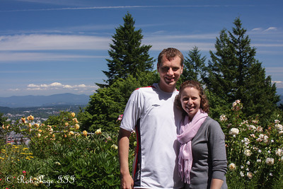 Rob and Emily enjoying the Pacific Northwest - Portland, OR ... June 15, 2012