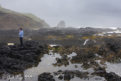 Emily looks into Cooks Chasm - Cape Perpetua, Yachats, Oregon ... June 18, 2012 ... Photo by Rob Page III