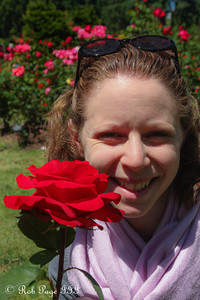 Emily at the International Rose Test Garden - Portland, OR ... June 15, 2012 ... Photo by Rob Page III