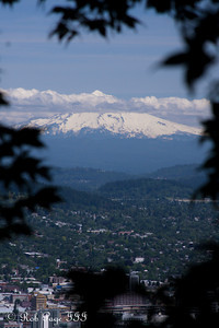 Mt. Hood rises above the city - Portland, OR ... June 15, 2012 ... Photo by Rob Page III