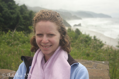 Emily takes in the beautiful coast - June 19, 2012 ... Photo by Rob Page III