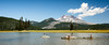 Central, Sparks Lake - Group of kayakers on lake with South Sister