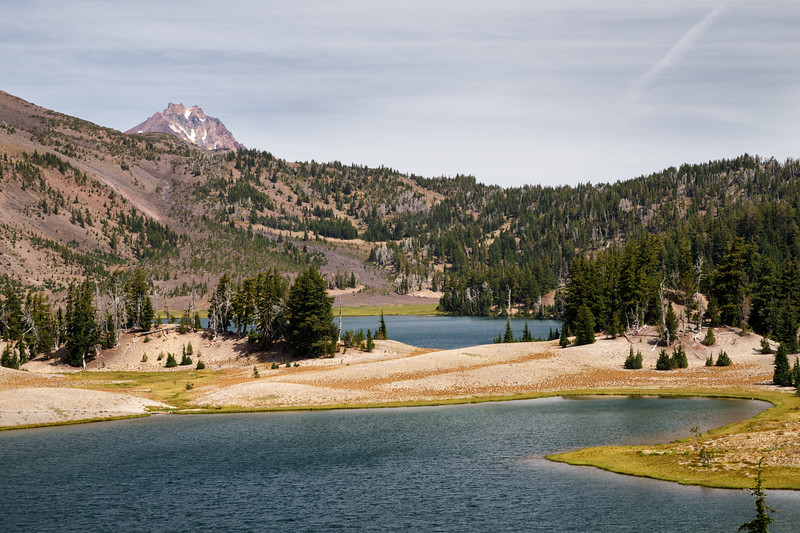 Central, Broken Top - Green Lakes with North Sister in the distance