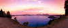 Southern, Crater Lake - Sunset panorama over lake with intense color