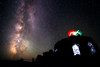 Central, Dee Wright - Jedi duel with lightsabers on top of observatory
