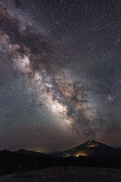 Central, Broken Top - Milky Way over Mt. Bachelor