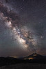 Central, Broken Top - Milky Way over Mt. Bachelor