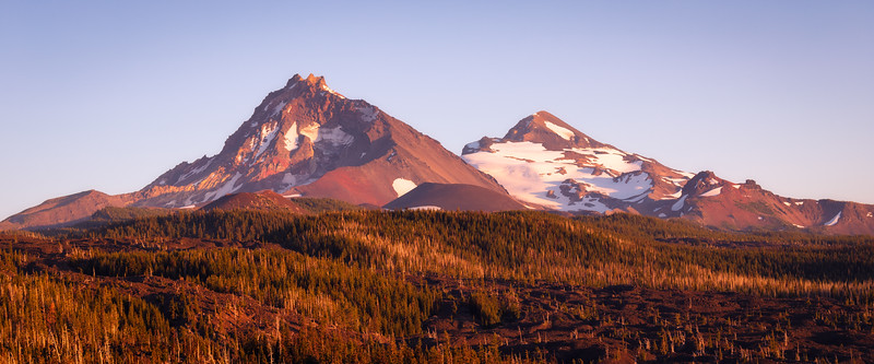 Central, Dee Wright - Alpenglow on the Three Sisters
