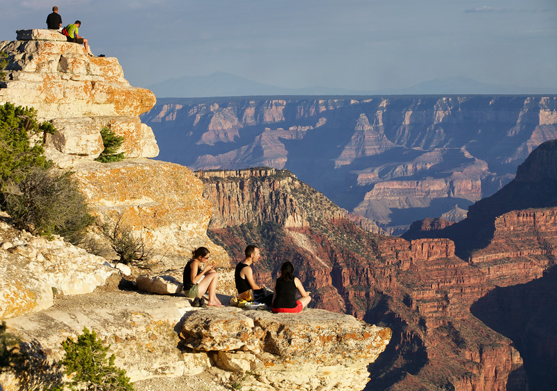 Picnicking on the edge at the North Rim