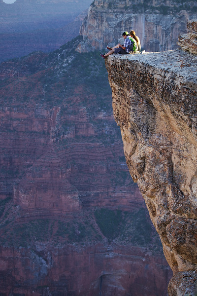Suicidal viewpoint on the North Rim at Bright Angel Canyon