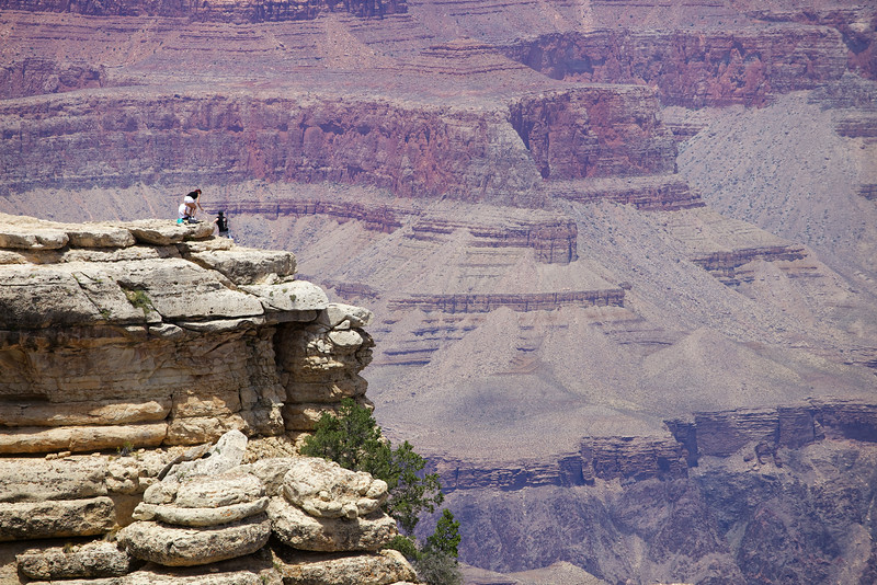 Risking all for a view at Mather Point on the South Rim
