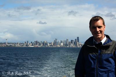 Rob on the ferry to Bainbridge Island - Seattle, WA ... April 11, 2015