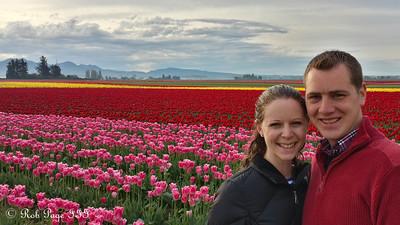 Rob and Emily at the Skagit Tulip Festival - La Conner, WA ... April 10, 2015