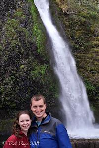 Rob and Emily at Horsetail Falls - Cascade Falls, OR ... April 5, 2015