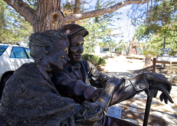 Old timers sculpture in Carmel