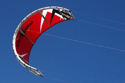 The kite of a kite surfer - Hood River, OR ... June 29, 2007 ... Photo by Rob Page Jr.